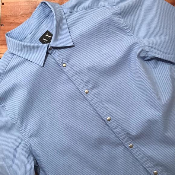 Armani Exchange Other - Armani Exchange Stretch Snap Button Down Shirt